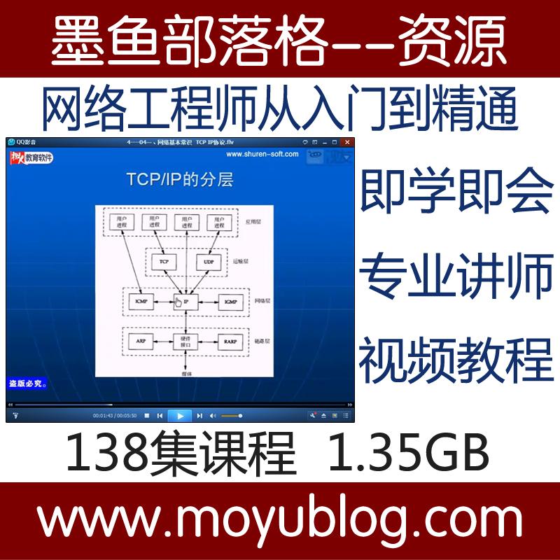 华夏树人网络工程师从入门到精通视频教程培训教程