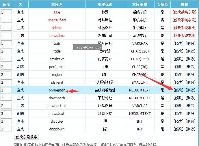 """帝国CMS播放字段onlinepath添加自动""""第N集""""播放名称的方法"""