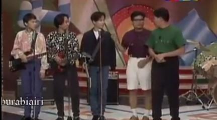 BEYOND早期视频:综艺节目演唱《和自己的心比赛》