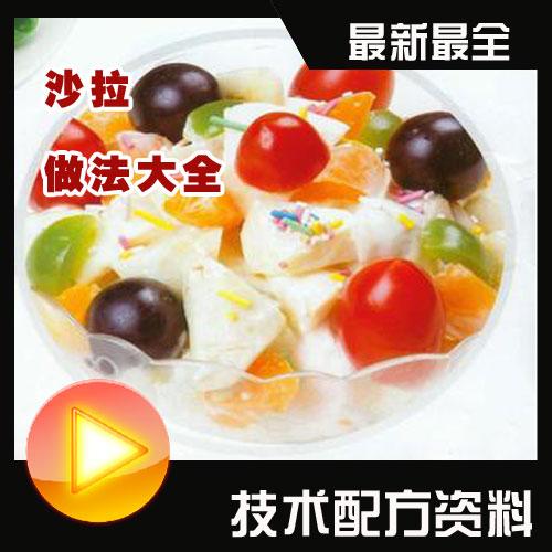 特色蔬菜水果沙拉酱汁原料制作小吃技术配方大全视频教程