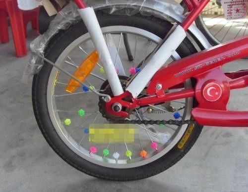 80后记忆:自行车辐条彩珠