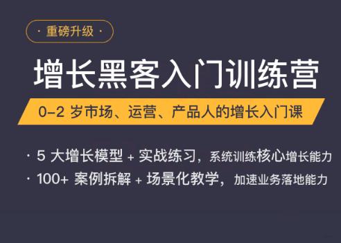 增长黑客入门特训营(完结)-三节课