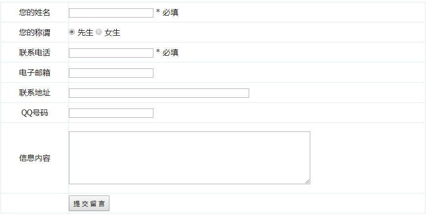 帝国CMS模板在内容页添加信息反馈表单详细代码
