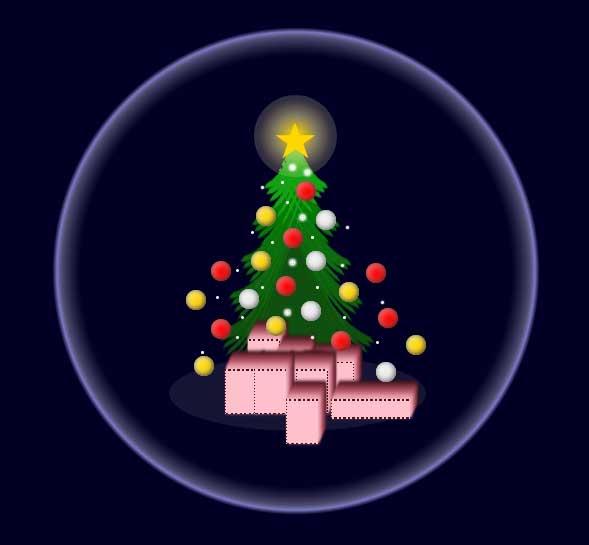 卡通圣诞礼物ui动画特效