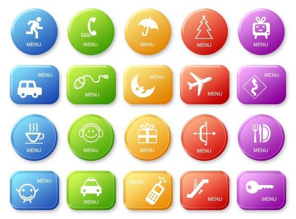 彩色的公共服务图标按钮_公共服务图标圆形按钮素材psd下载