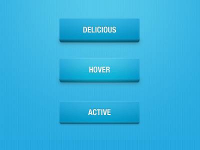 蓝色质感按钮_蓝色带阴影按钮_psd按钮素材下载