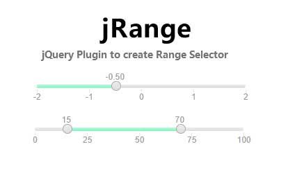 jQuery范围选择拖动滑块插件