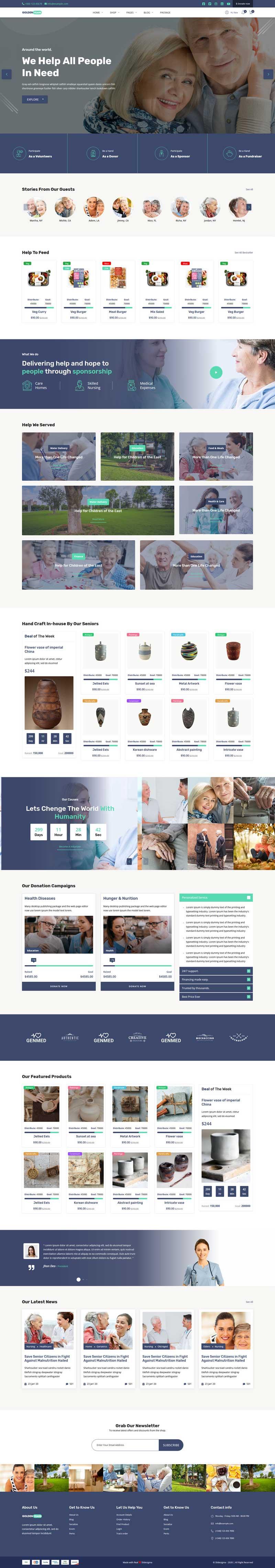 养老健康护理机构官网html模板