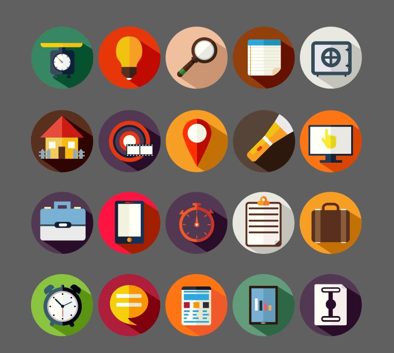 圆形企业商务图标AI素材