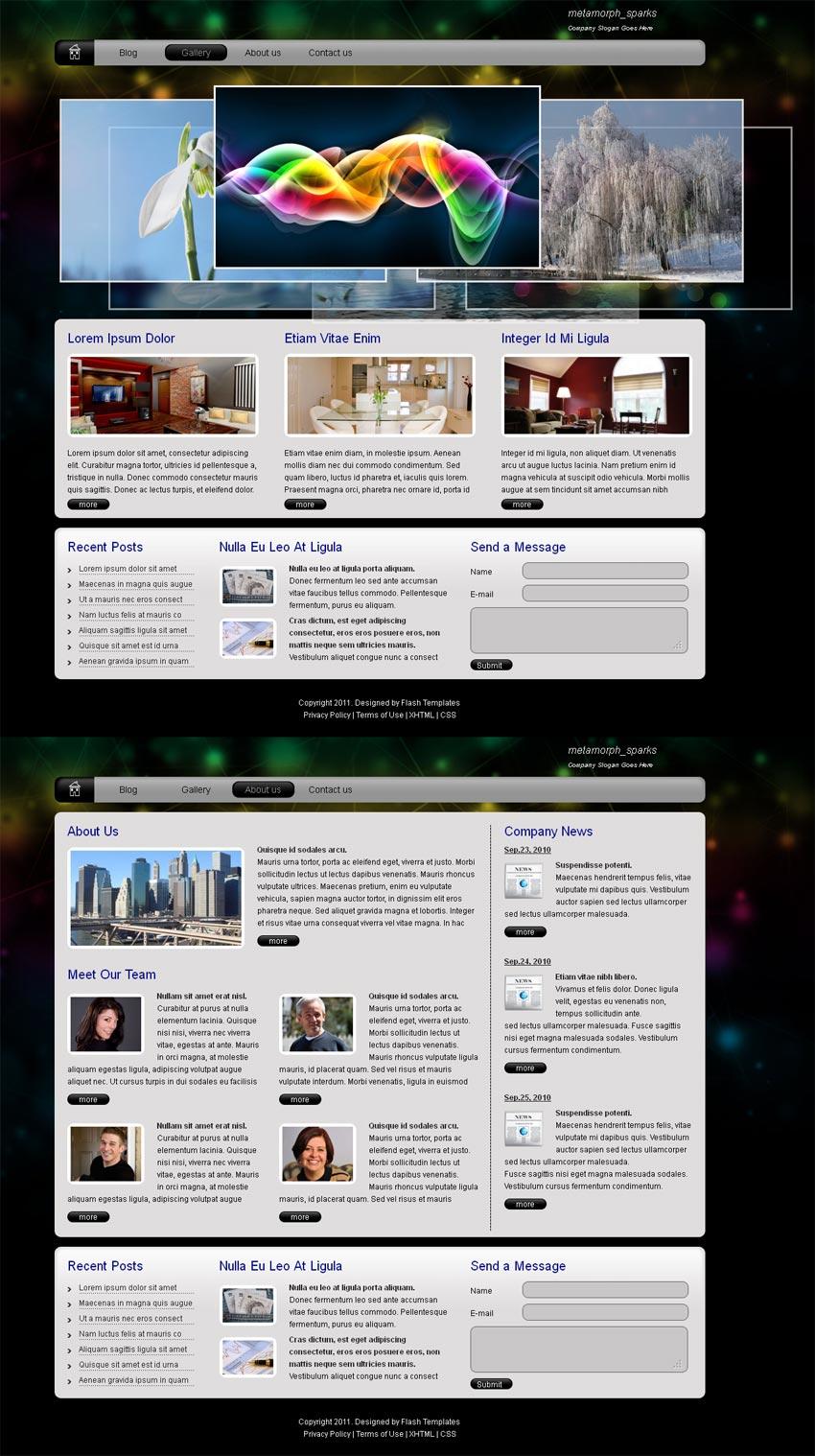 简单黑色的项目团队介绍网页html模板下载