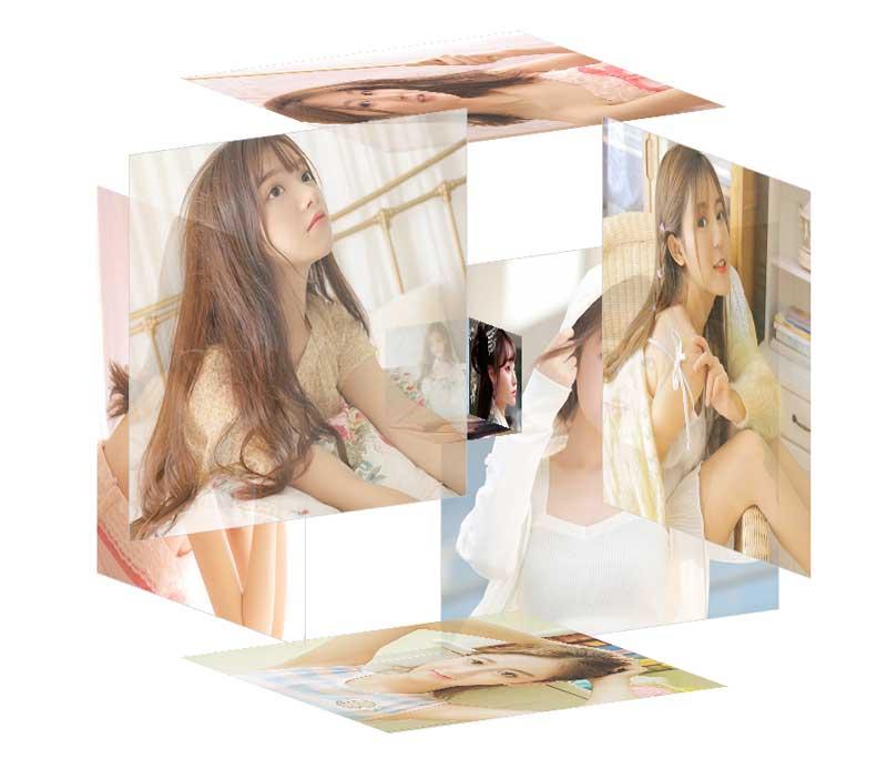css3 3D旋转图片立方体特效