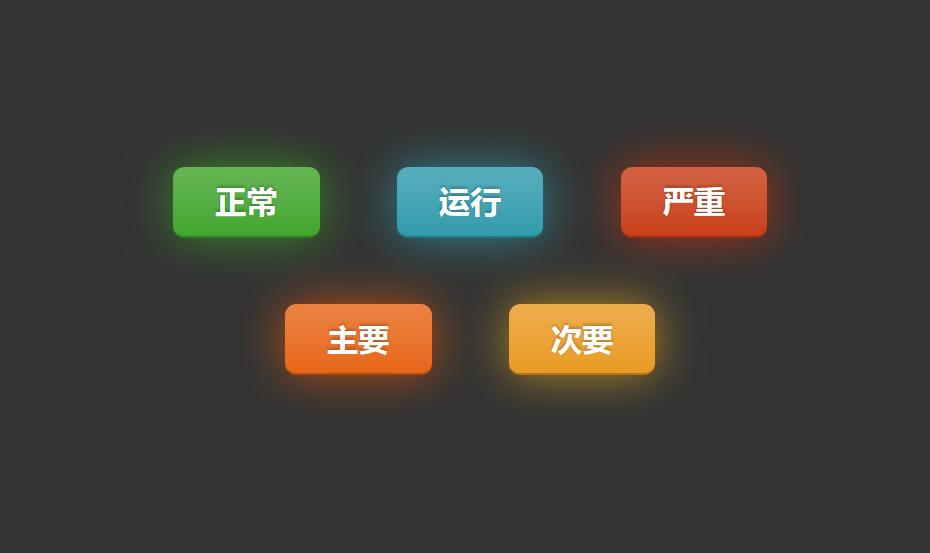 纯css3 animation属性发光按钮动画