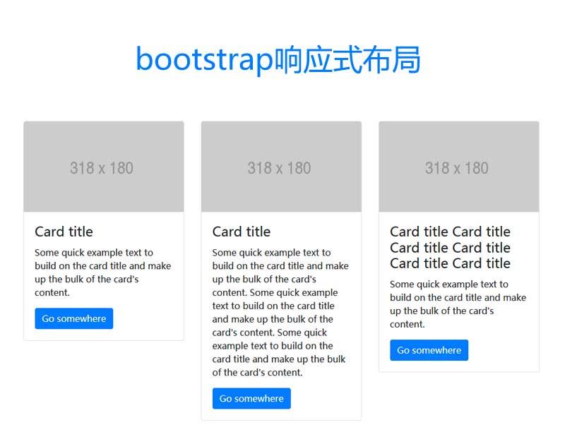 基于bootstrap卡片图文列表响应式布局代码