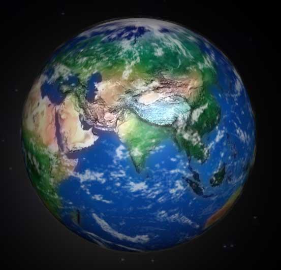 canvas绘制3D地球自转动画特效