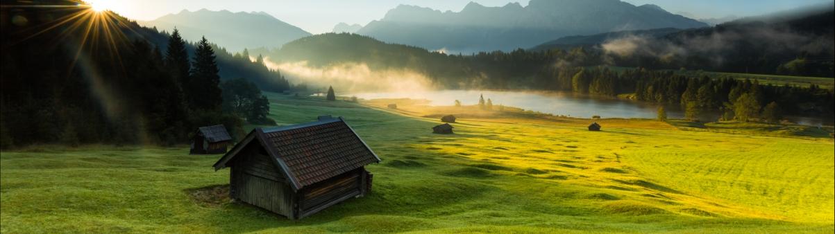 阿尔卑斯山风景5120x1440高清壁纸