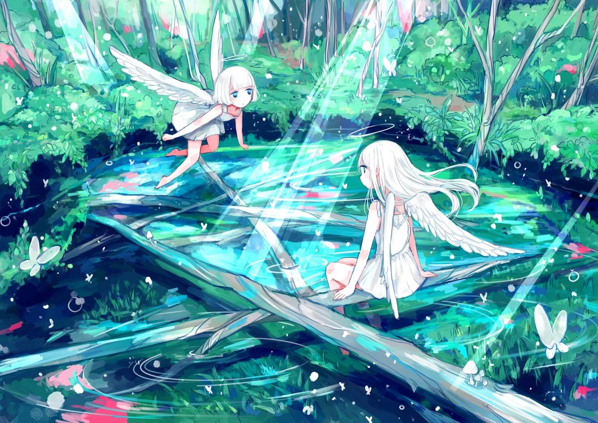 森林天使的聚会场所4k动漫壁纸