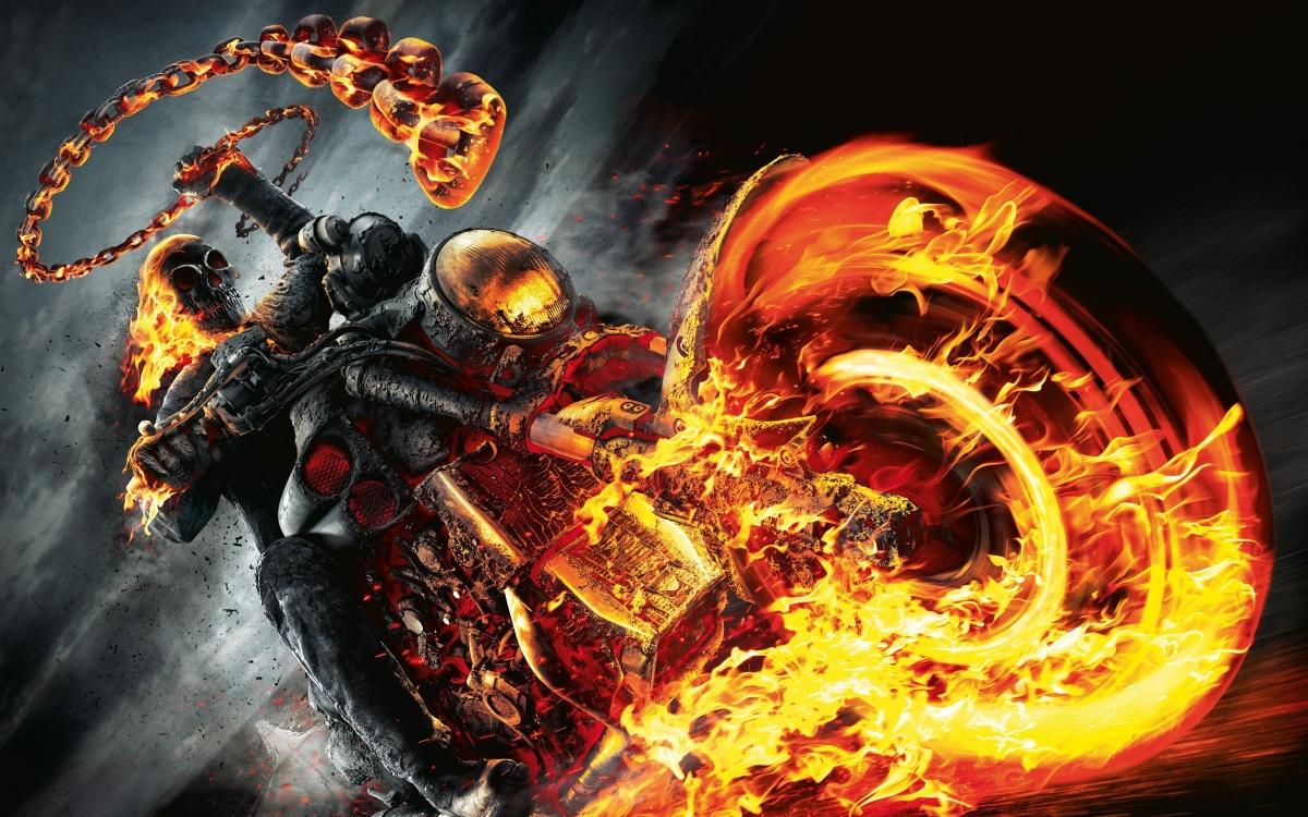 恶灵骑士 漫威漫画超级英雄4k壁纸