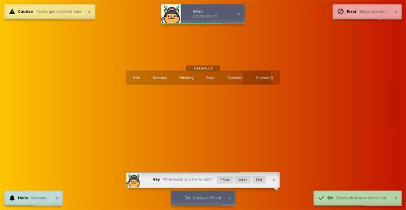 html5点击弹出自动关闭消息提示框