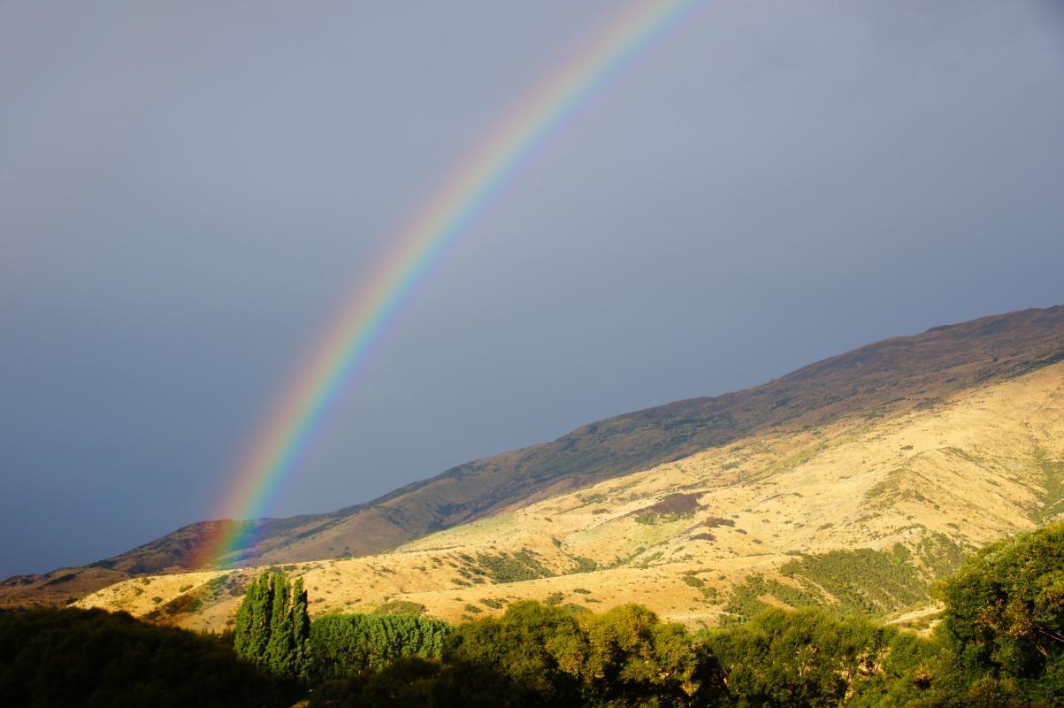 彩虹 新西兰风景4K壁纸