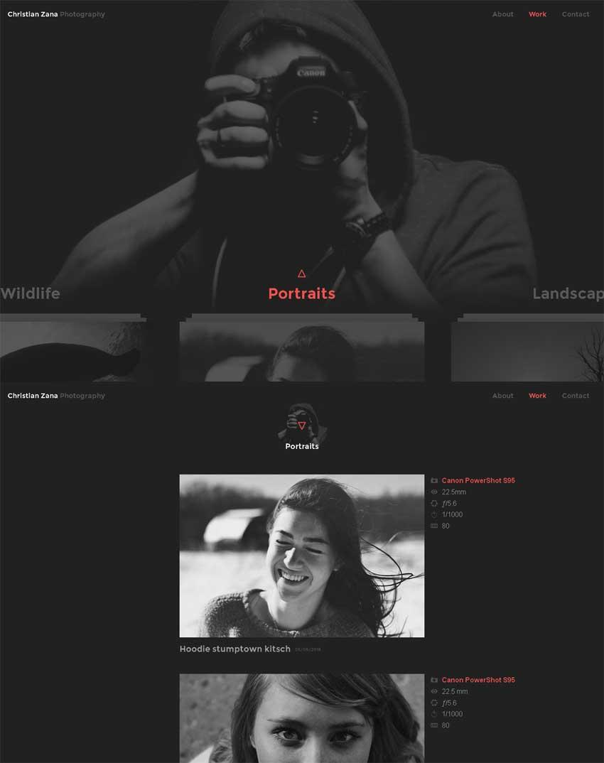 html5摄影网站图片相册展示模板下载