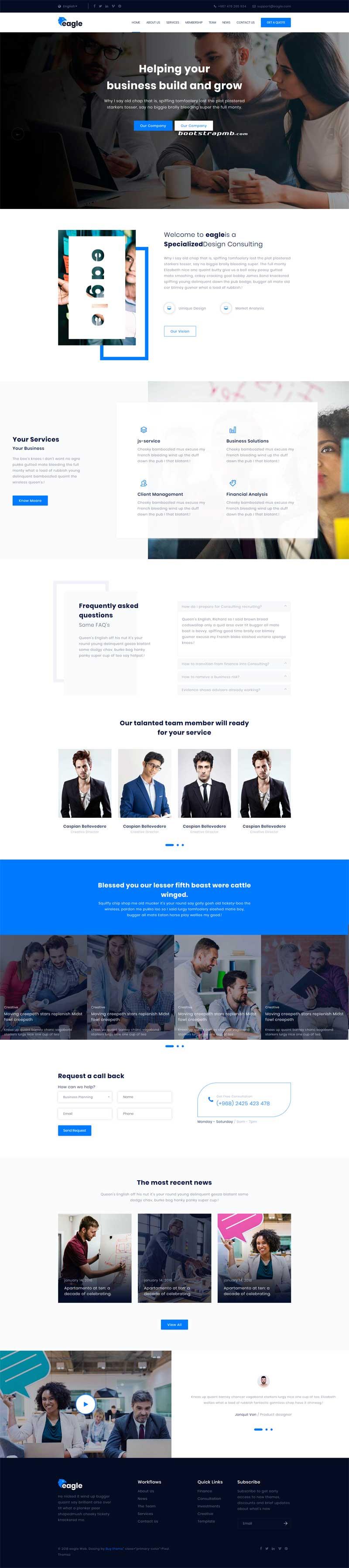 通用的商务合作企业网站模板