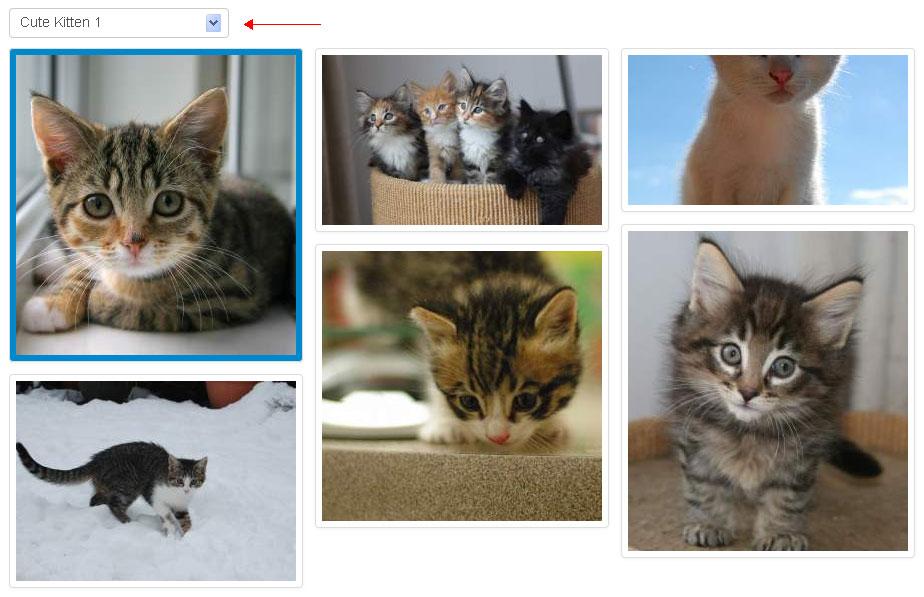 jquery select框图片选择器点击图片给表单select框赋值
