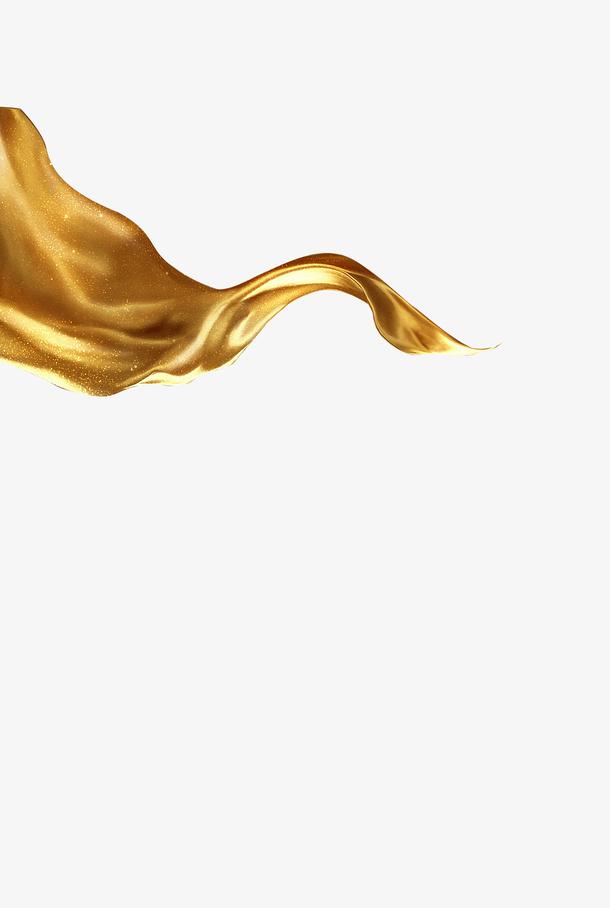 金色飘带丝绸
