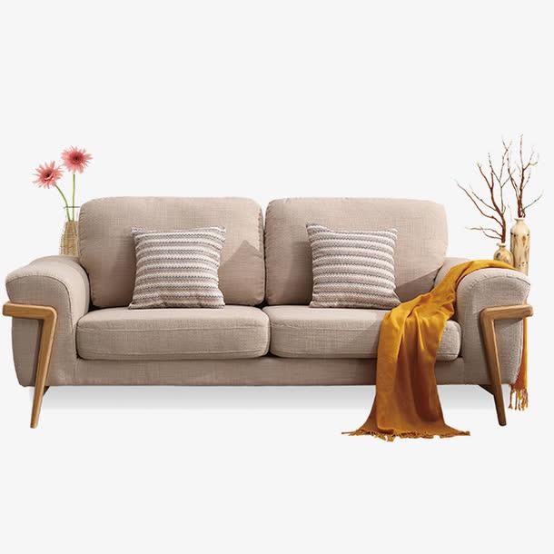 清新现代家居家装双人沙发花瓶摆