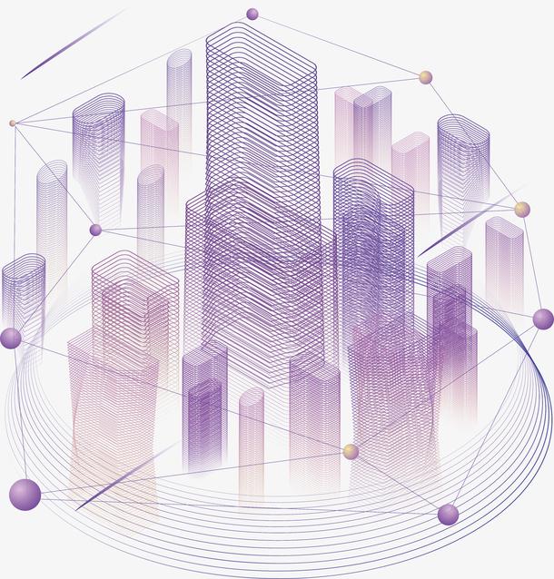 <a href=https://www.moyublog.com/tags/zise/ target=_blank class=infotextkey>紫色</a>三维<a href=https://www.moyublog.com/tags/keji/ target=_blank class=infotextkey>科技</a>大楼数据图
