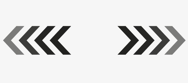 矢量渐变箭头符号