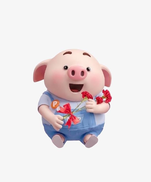 小粉猪与花的故事