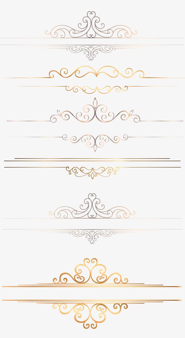 银色花纹金边底纹图案