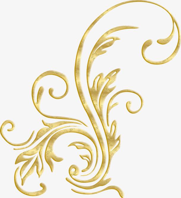 金色华丽花纹