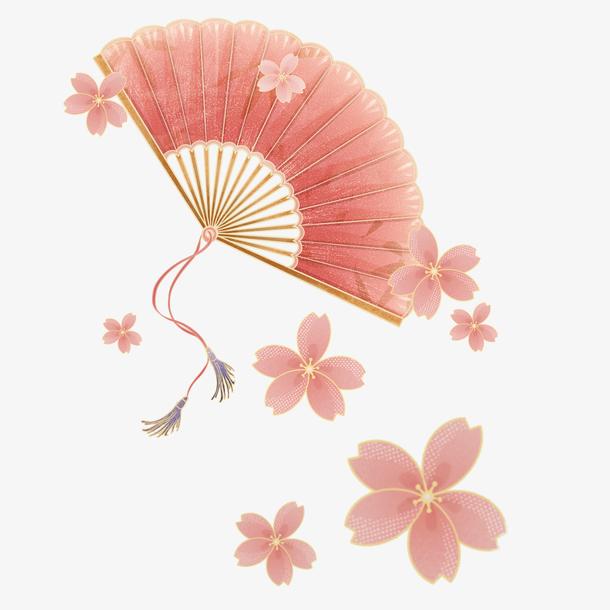 春天扇子樱花
