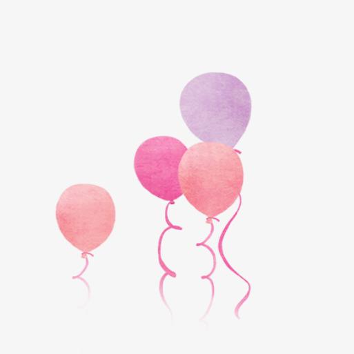 鲜艳活泼六一儿童节促销海报 气球