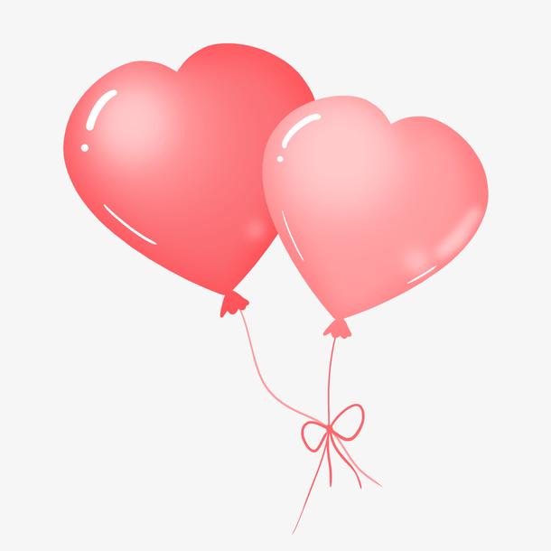 儿童节粉红色心形气球