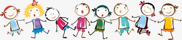 开心61六一儿童节手拉手手绘