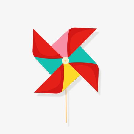 六一儿童节创意字体节日海报 大风车