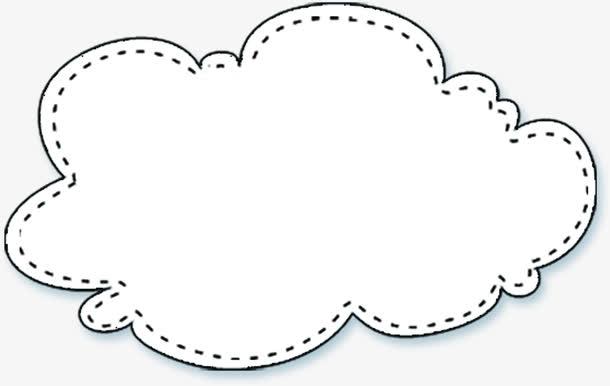 卡通白云对话框六一儿童节