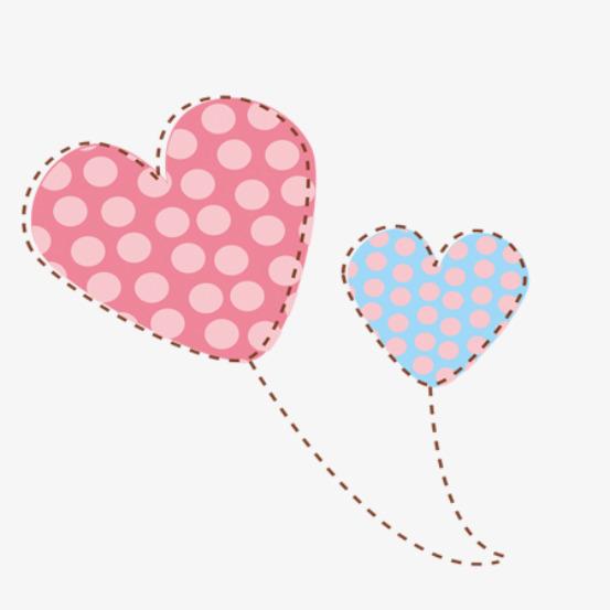 可爱卡通欢度六一儿童节气球云朵心