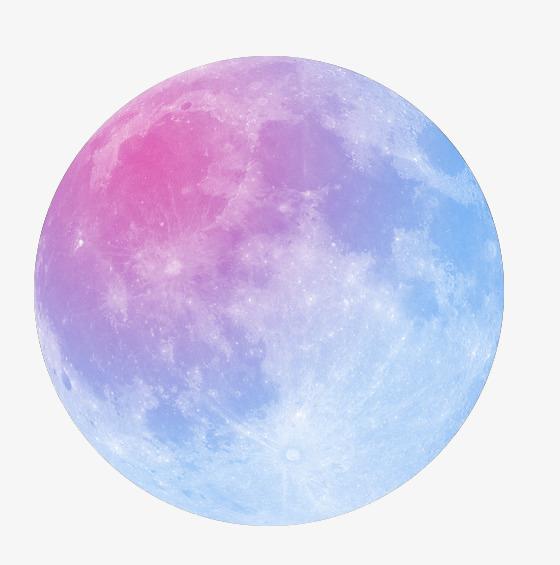 蓝紫色的月球