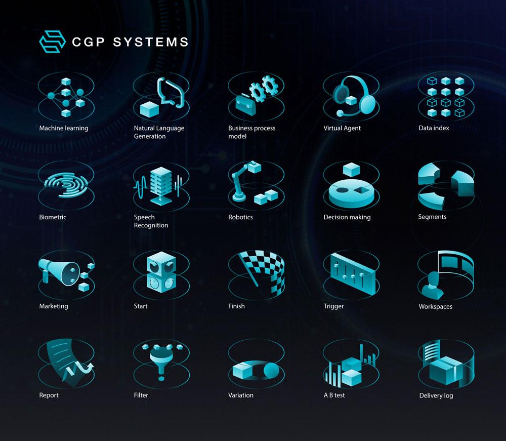 创意的AI人工智能图标设计