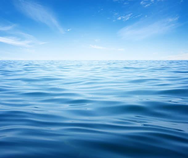 碧蓝的海面高清波浪