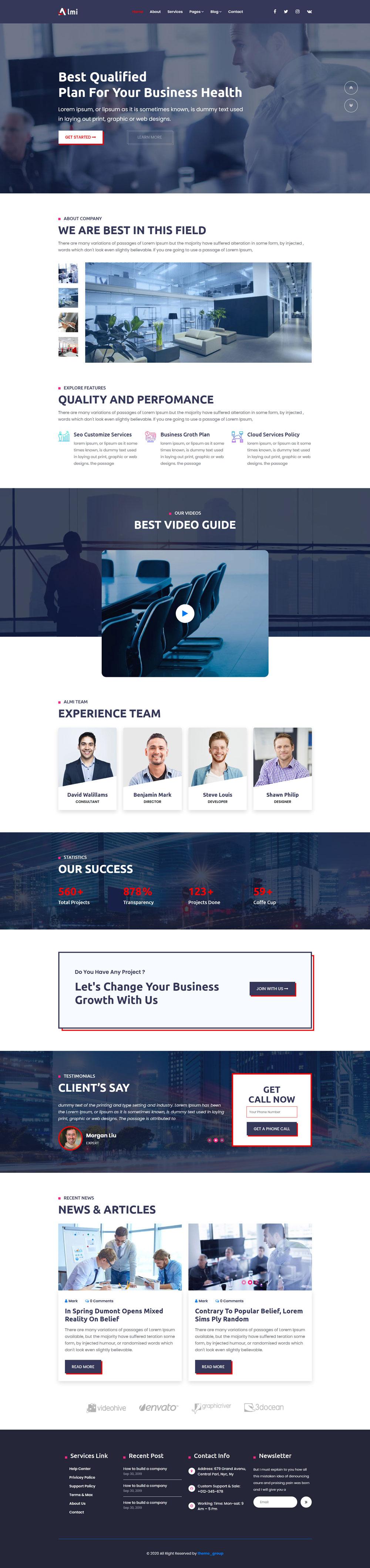 商务咨询管理公司HTML5模板