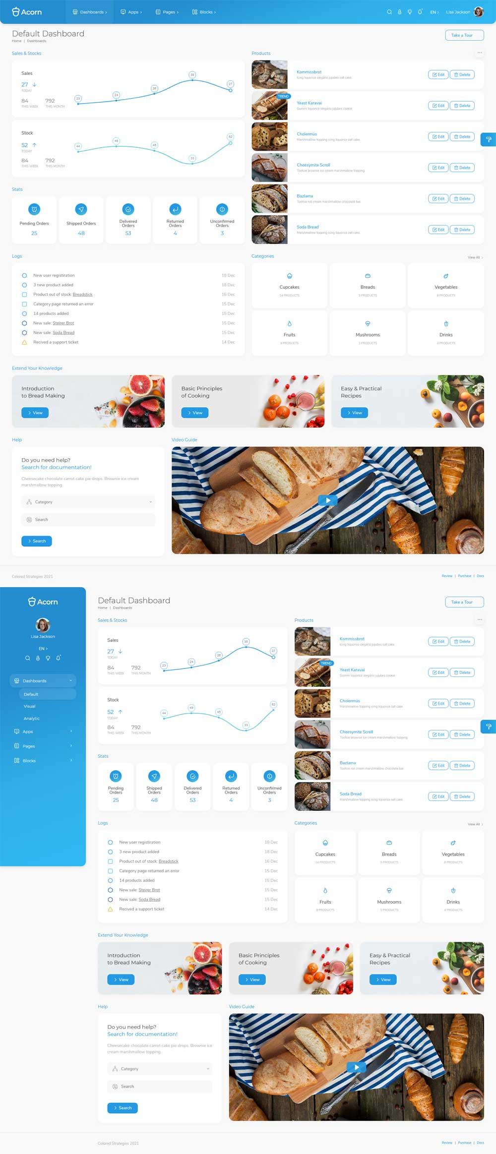 餐饮美食店铺系统Admin管理模板