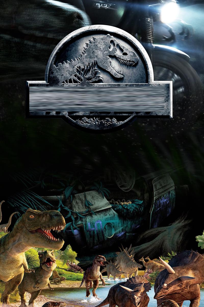 酷黑创意侏罗纪世界2海报