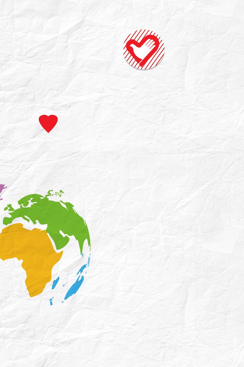简约白色国际志愿者日12.5海报