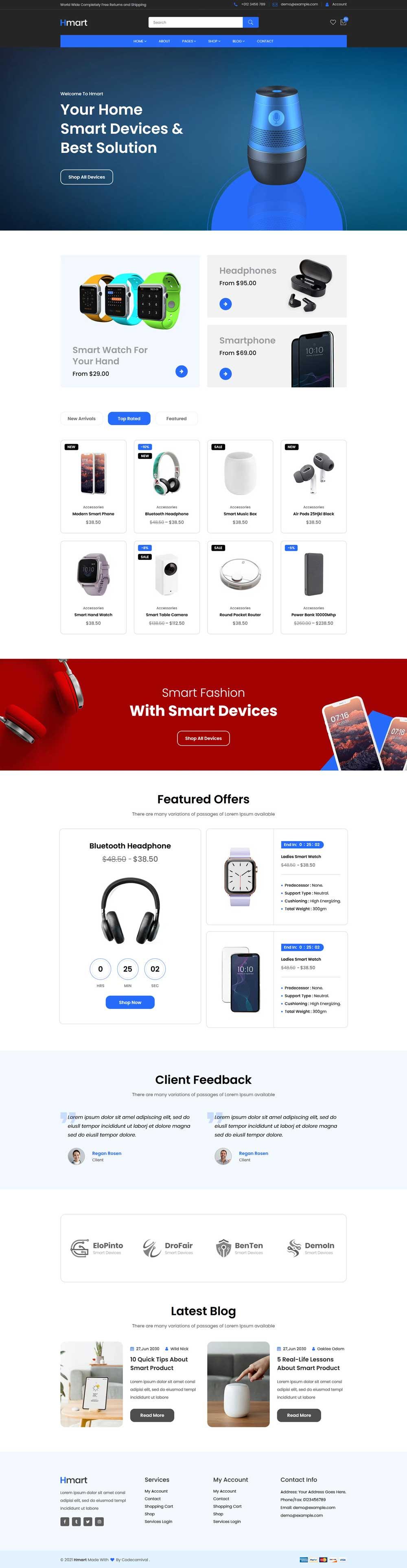 智能数码产品销售HTML商城模板