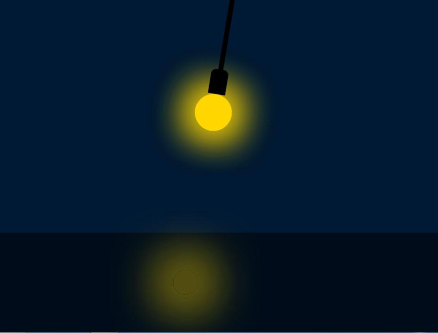 悬挂的电灯泡开关ui交互特效