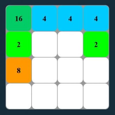 原生js 2048小游戏代码